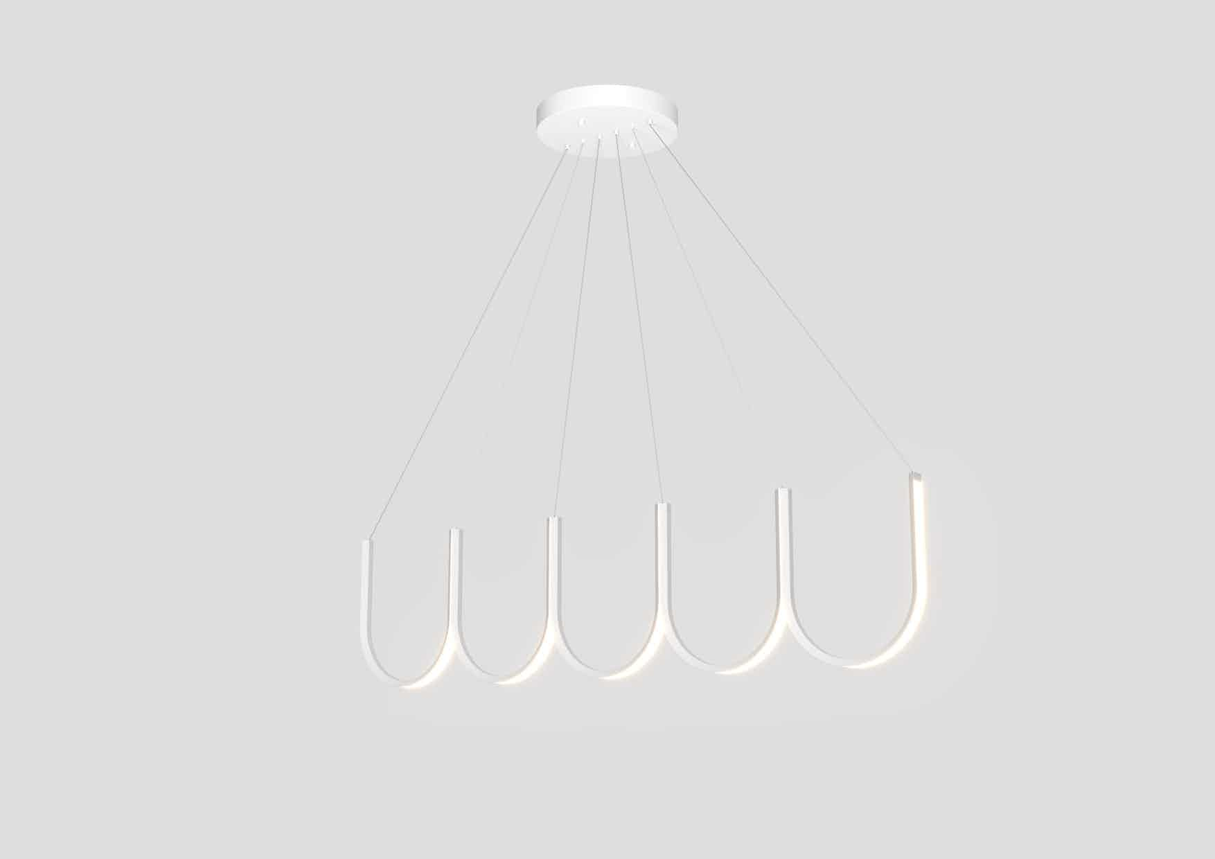 Arpel lighting white u5 pendant haute living