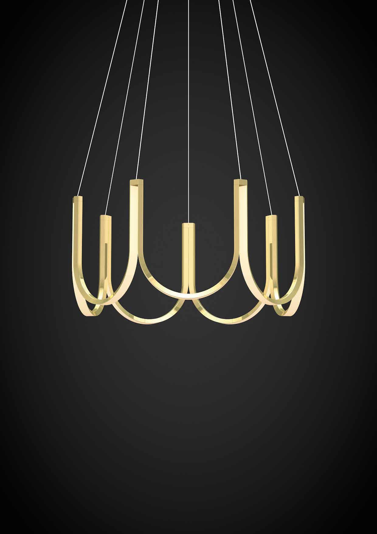 Arpel lighting u7 pendant brass haute living