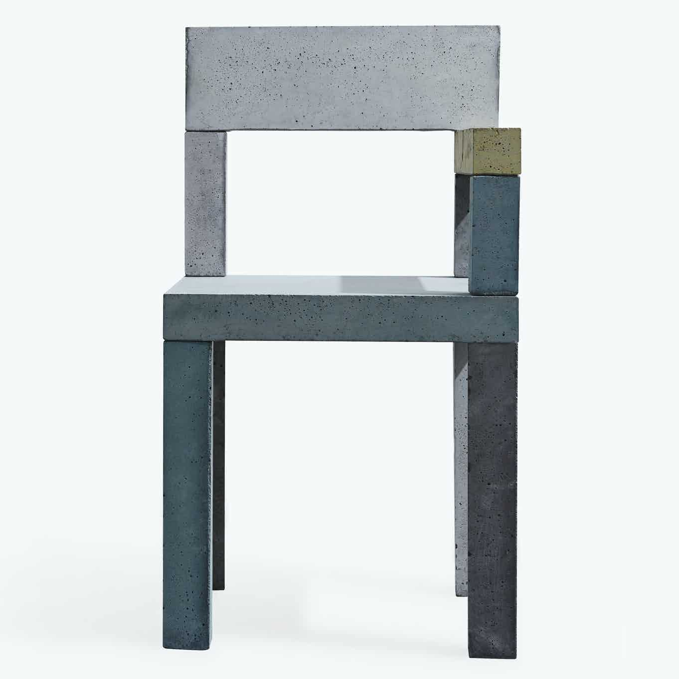 New works furniture untitled concrete chair front haute living