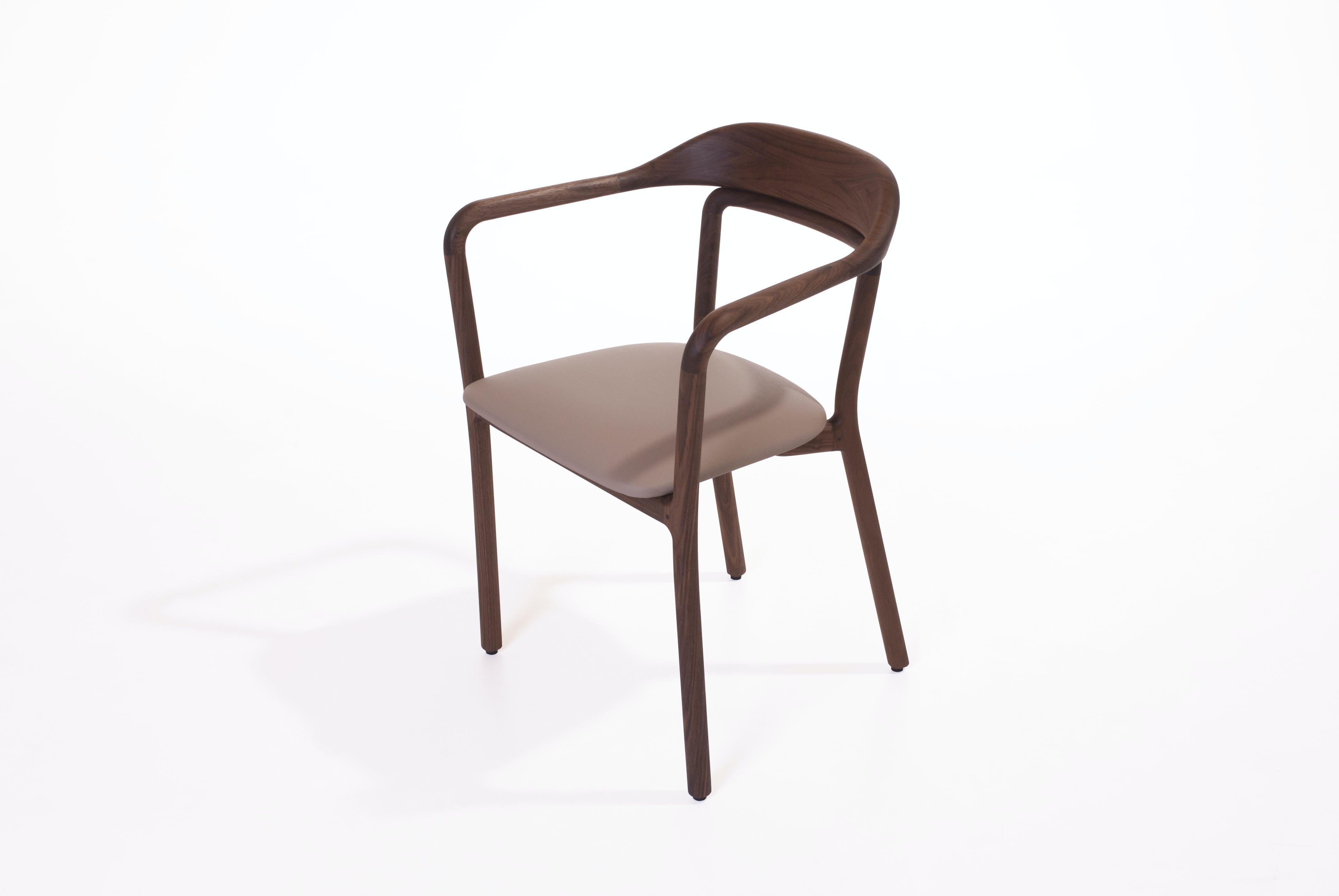Duet Upholstered Chair Walnut
