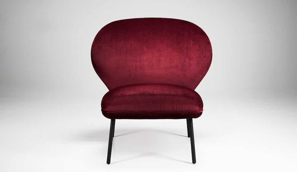 Won Ventall Red Lounge Chair Back