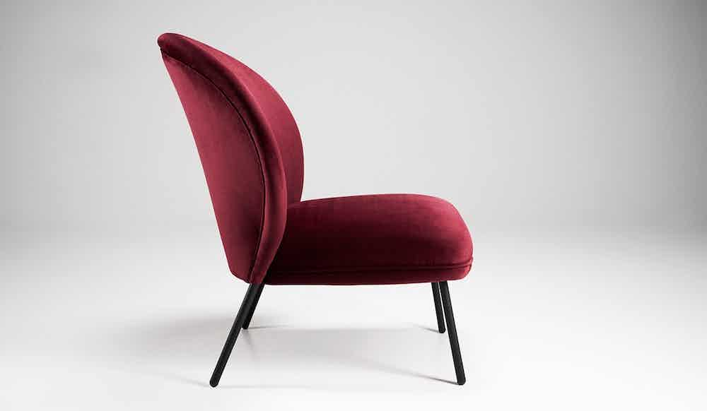 Won Ventall Red Lounge Chair Side
