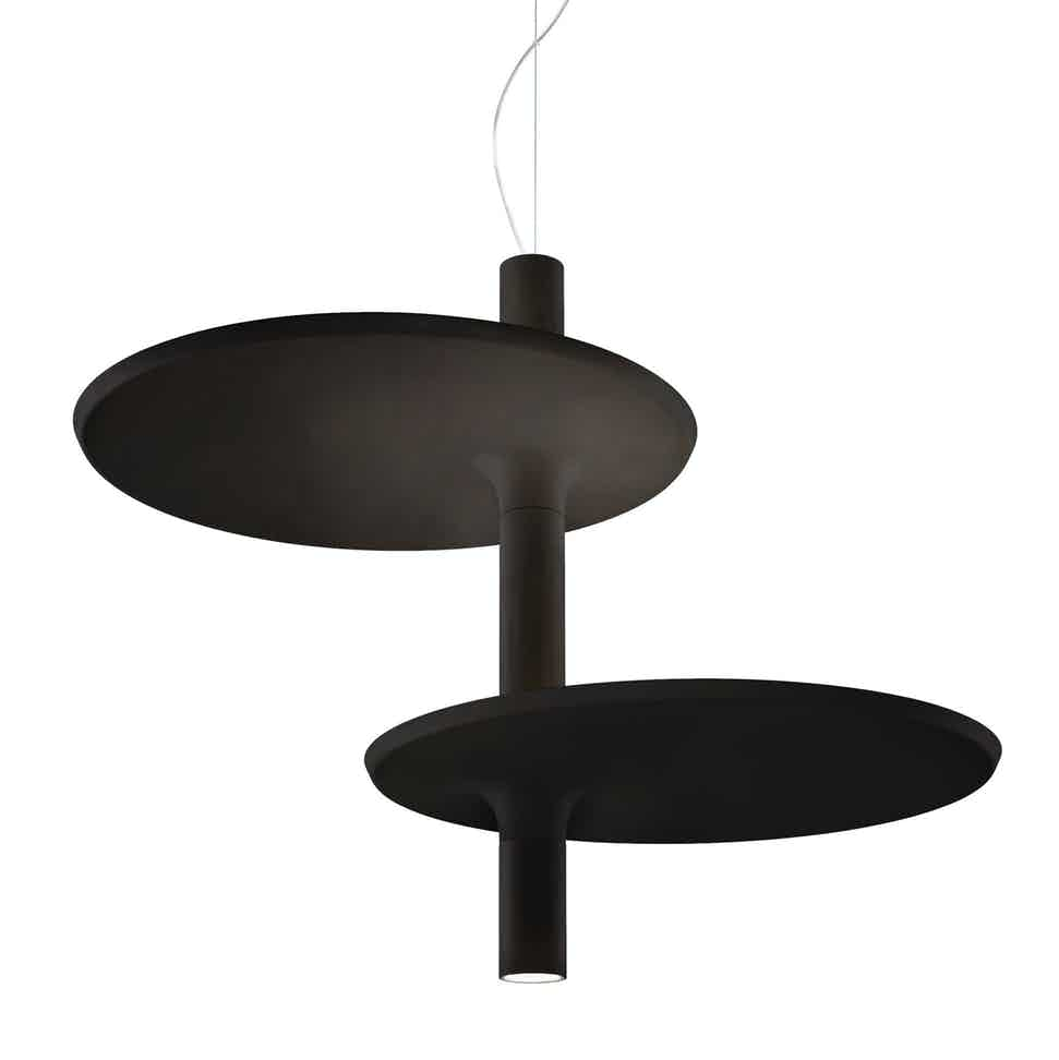 Kundalini lighting victoria suspension lamp black 2 haute living