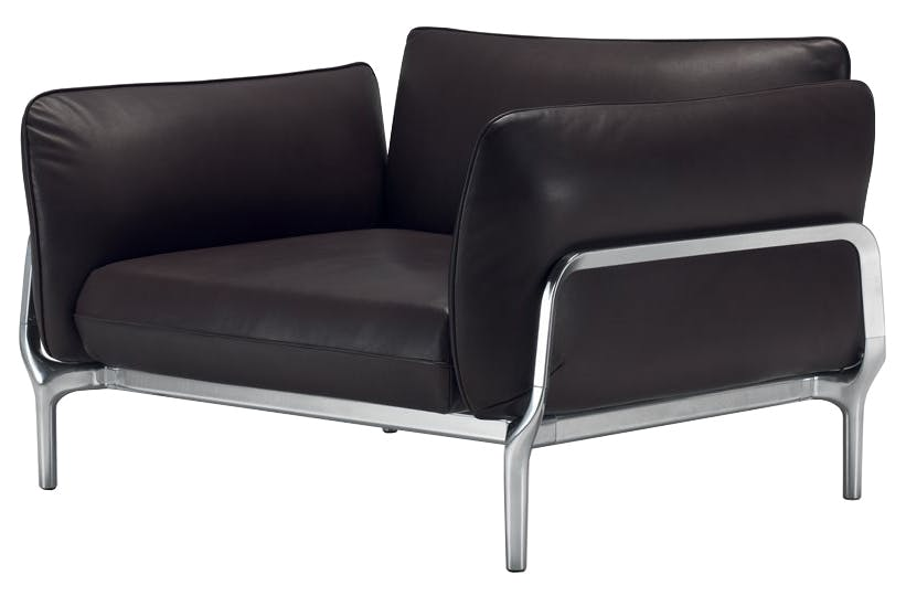 Alias Black Leather Vina Chair Thumbnail