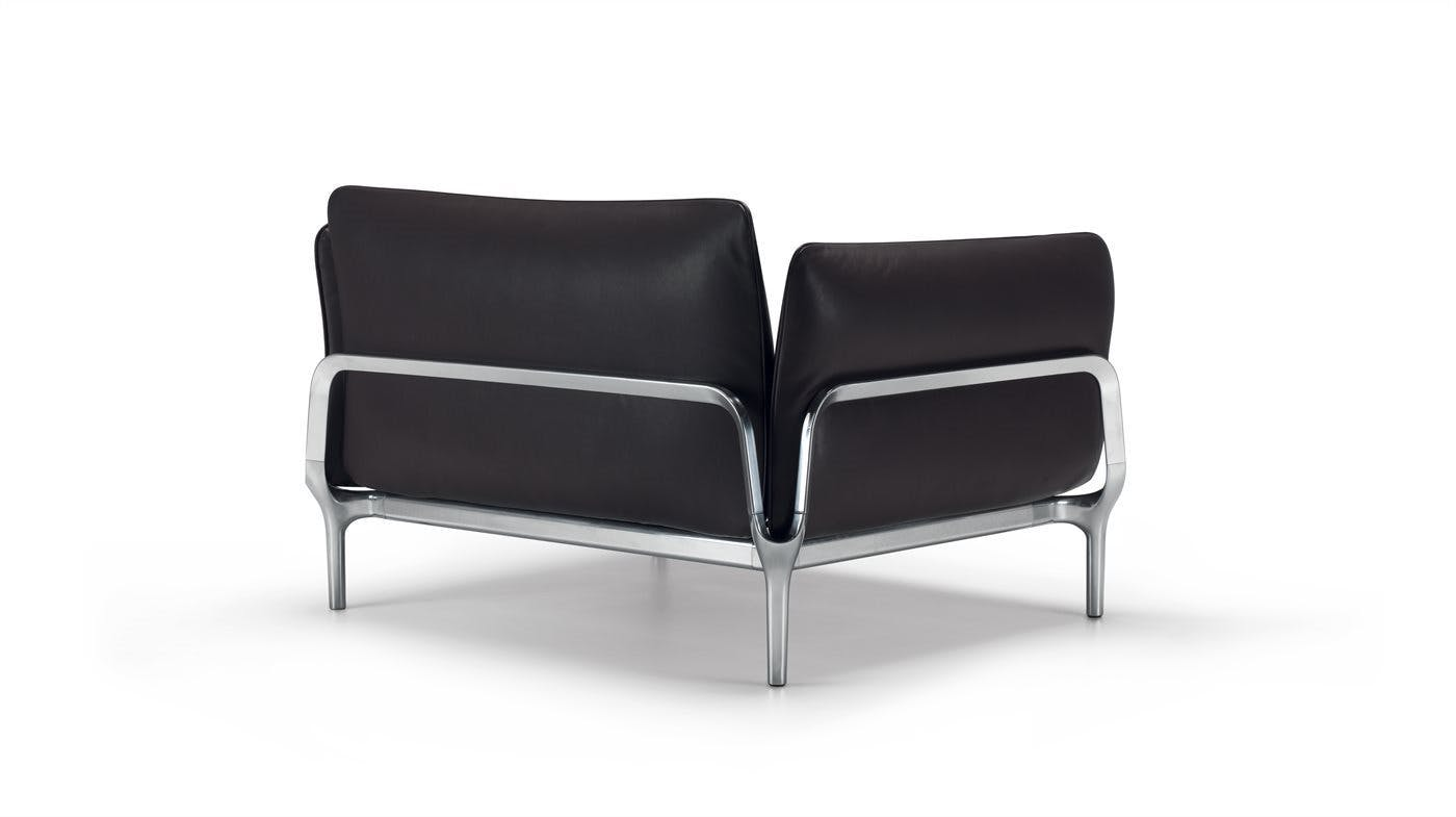 Alias Black Leather Viva Chair Back