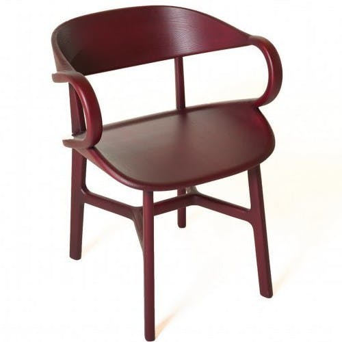 De La Espada Nichetto Vivien Dining Chair Red Angle Haute Living
