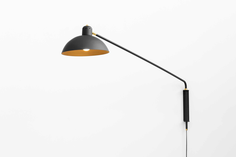 lambert et fils black waldorf wall lamp haute living