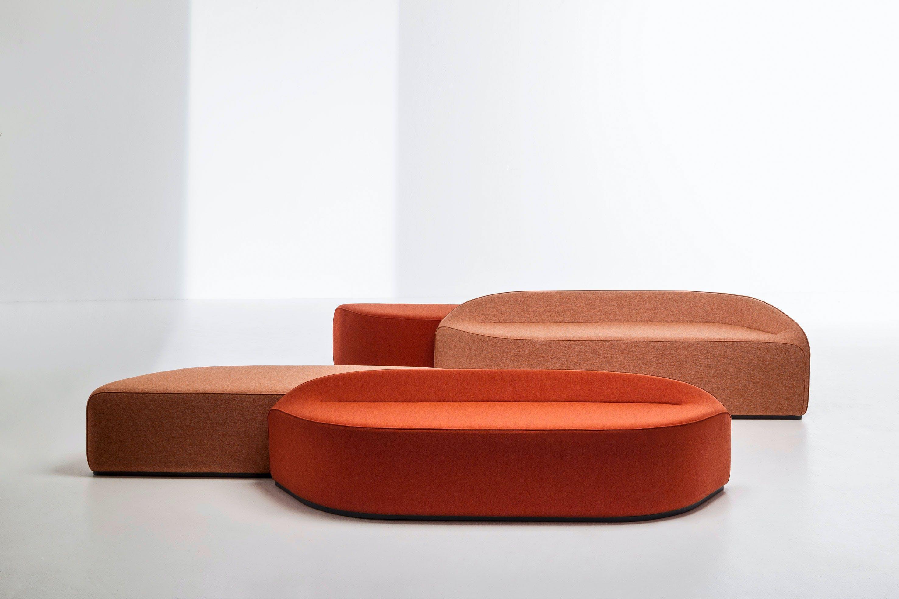 La Cividina Orange Waves Modular Sofa Arrangement Haute Living