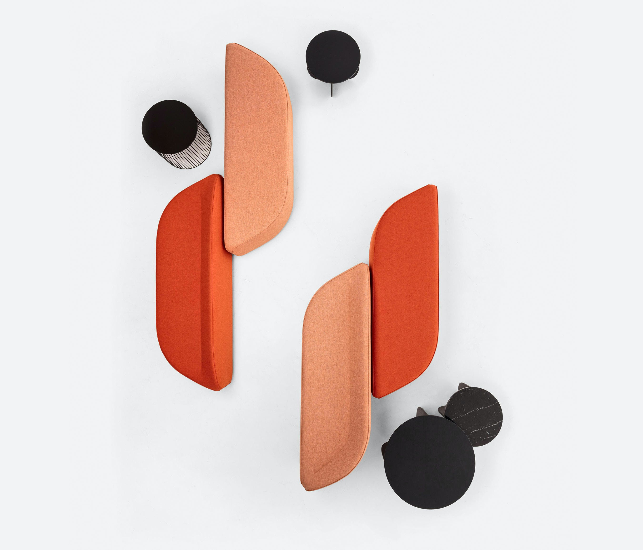 La Cividina Orange Waves Modular Sofa Haute Living