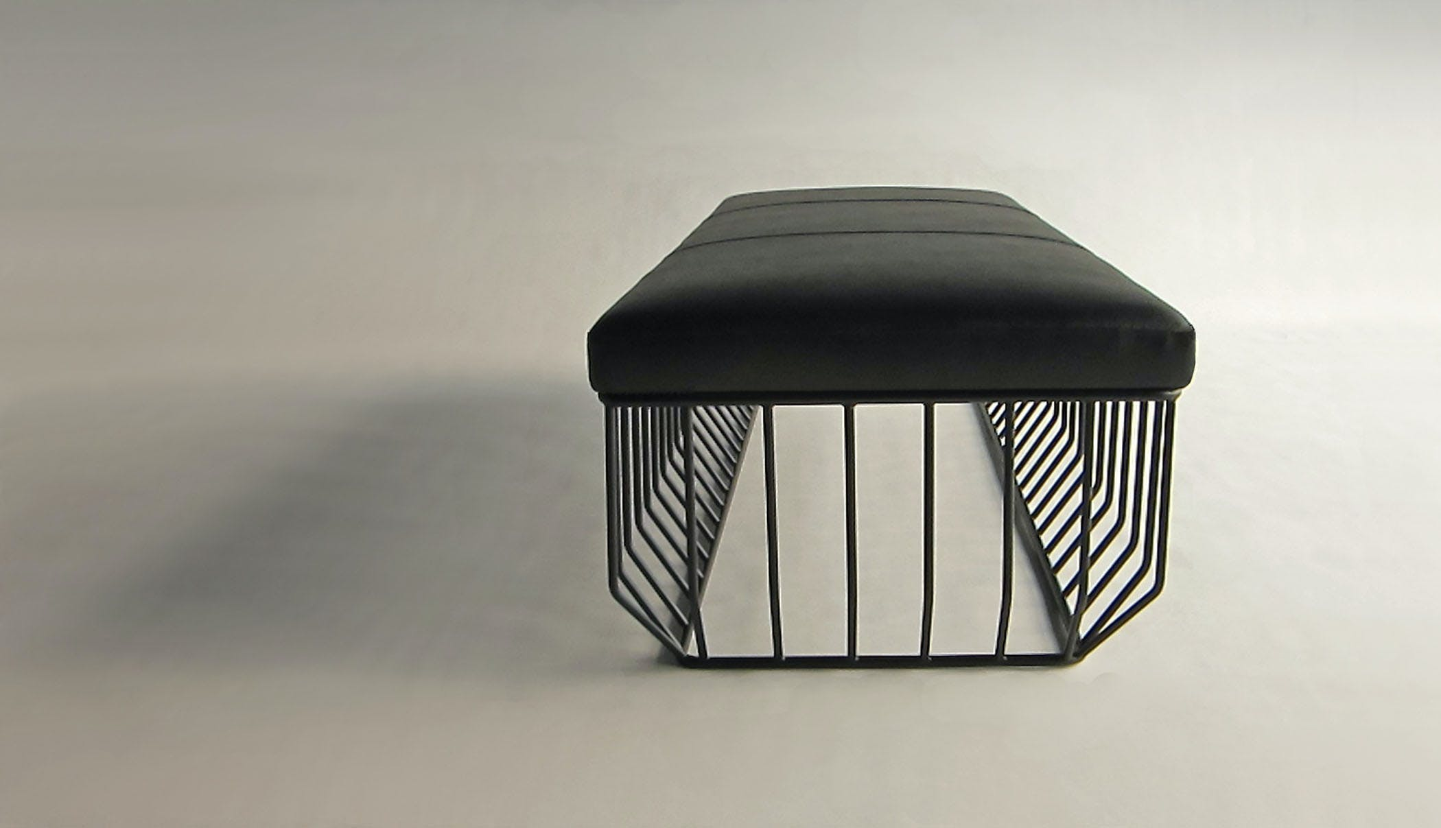 Wired Bench Flat Black Front