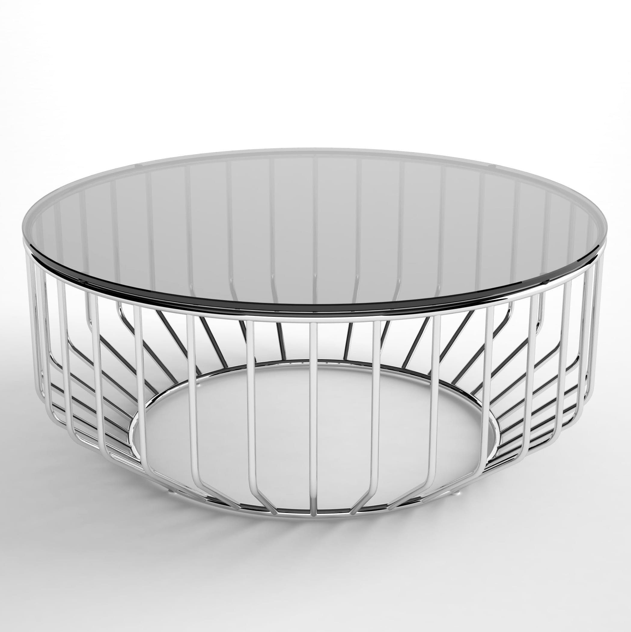 Phase Design Wired 32 Coffee Table Polished Chrome Smoked Glass Hi Res 2 180924 145139
