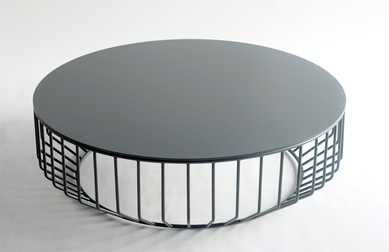 Wired Coffee Table Steel Top 5