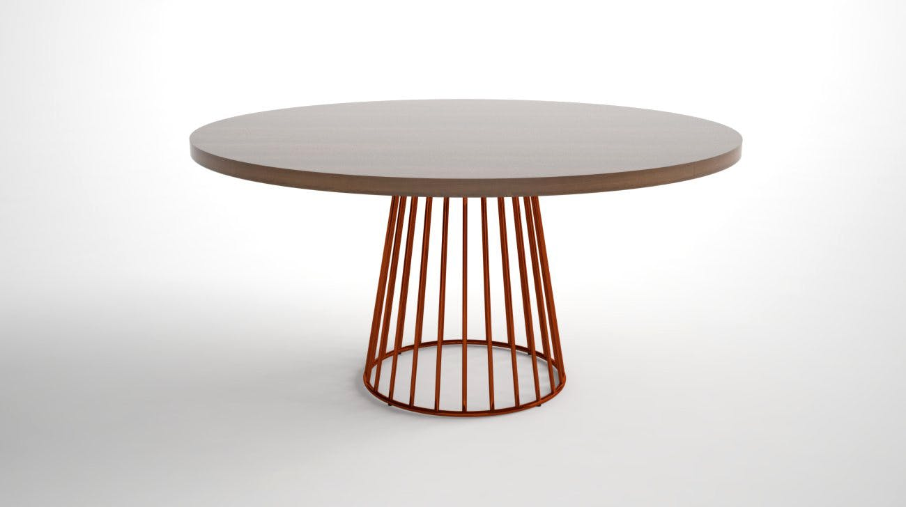 Wired 60 Dining Table Phase Design Burnt Copper Walnut 2