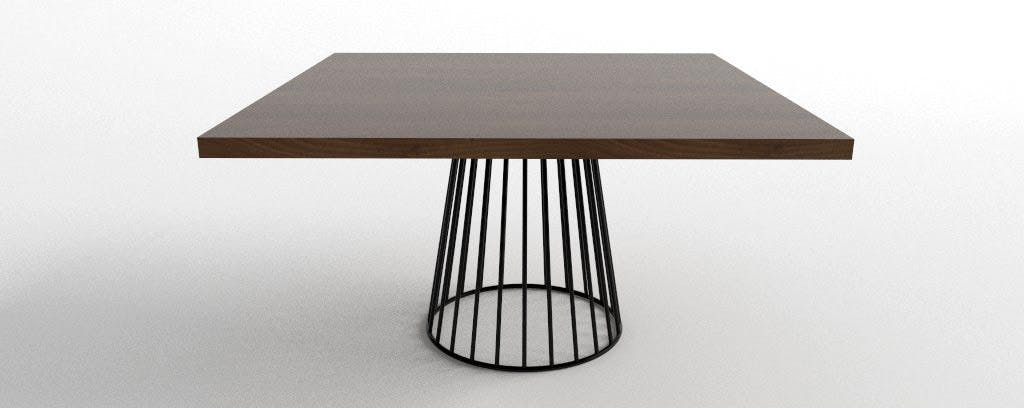 Wired Dining Table 54 Square Haute 1