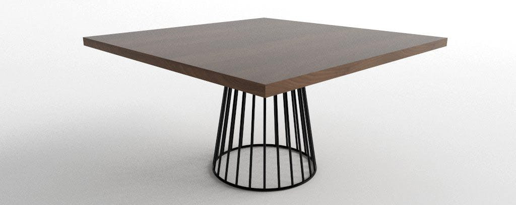 Wired Dining Table 54 Square Haute 3