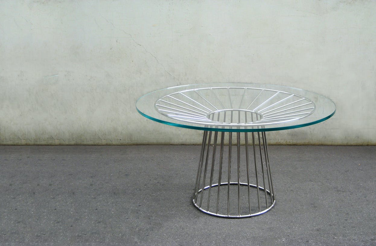 Wired Dining Table Glass 1B1