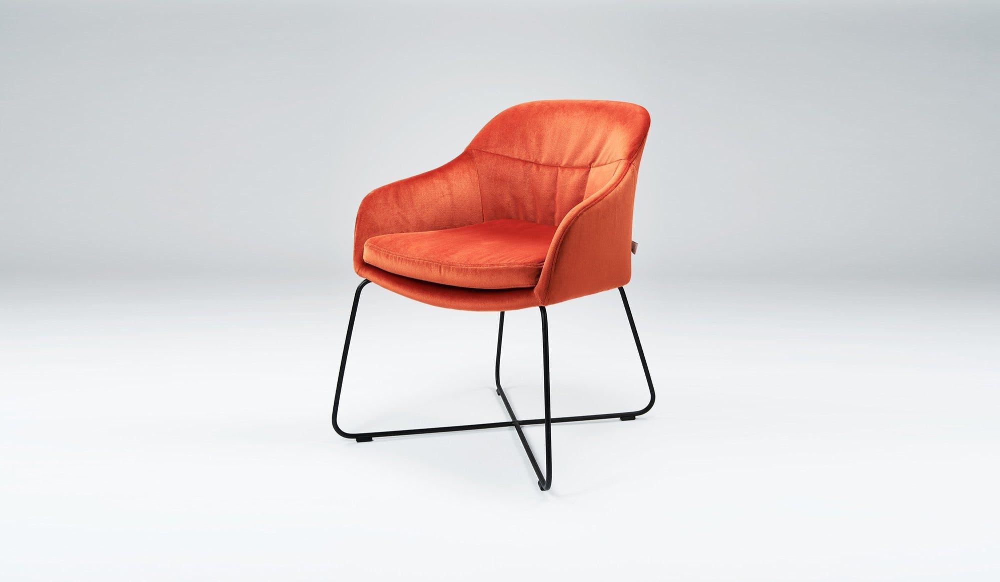 Won Caspar Chair Orange Suede