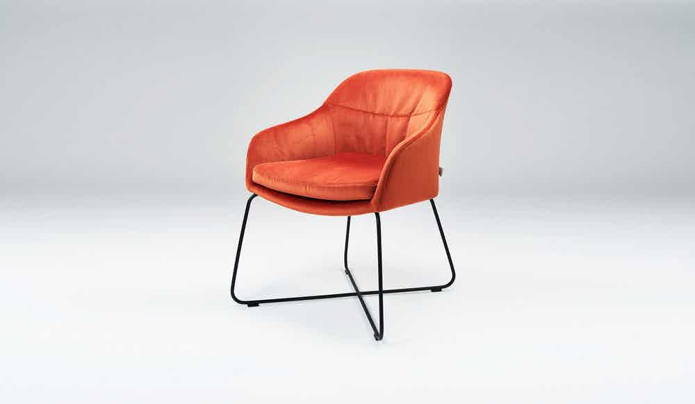 Won Caspar Chair Orange Suede