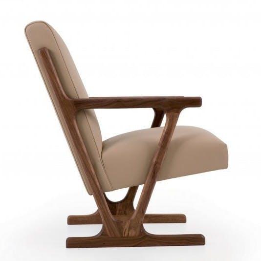 De La Espada Autoban Woody Lounge Chair Side Haute Living