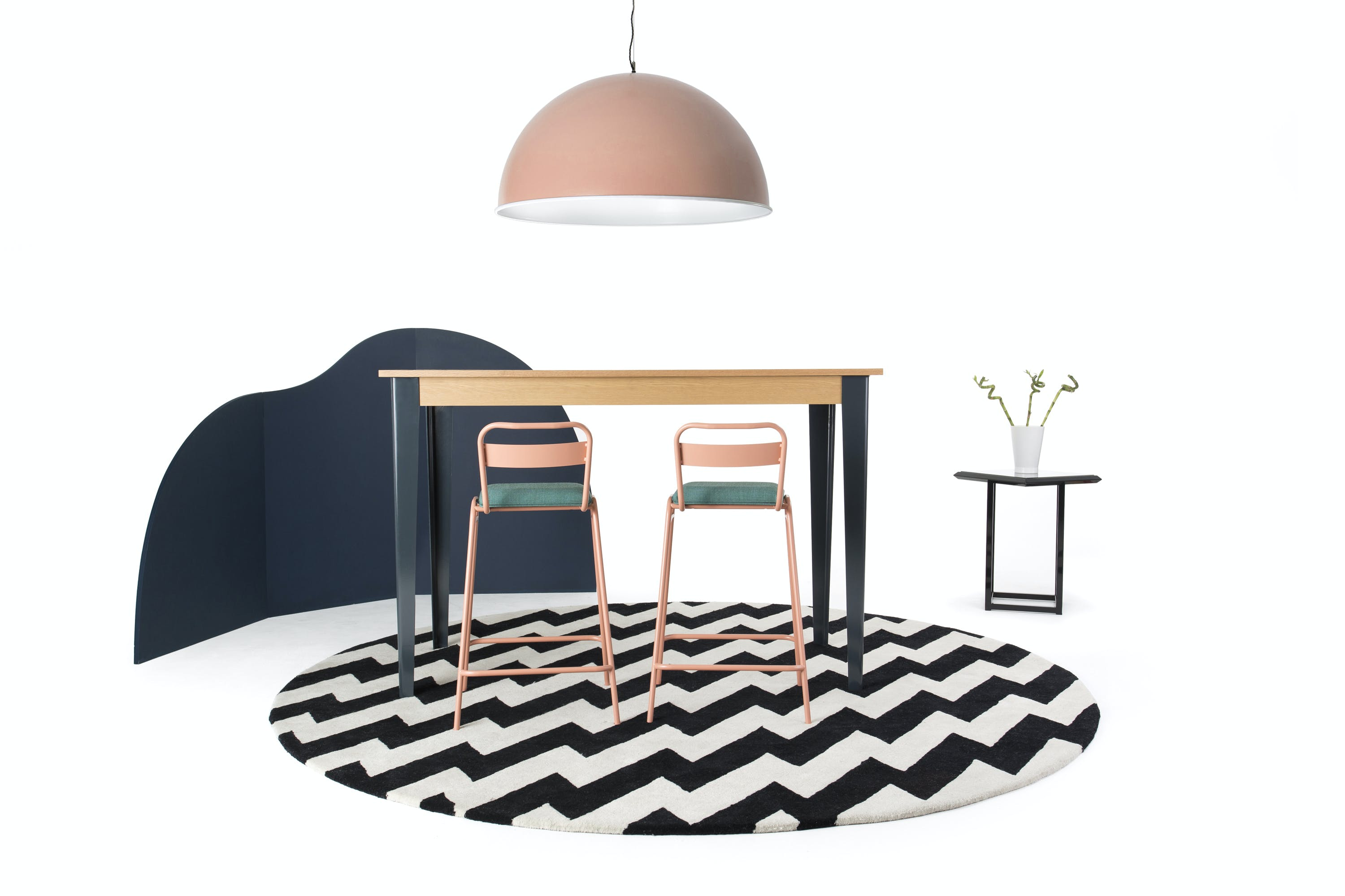 Deadgood-working-girl-bar-stool-pink-at-table-haute-living