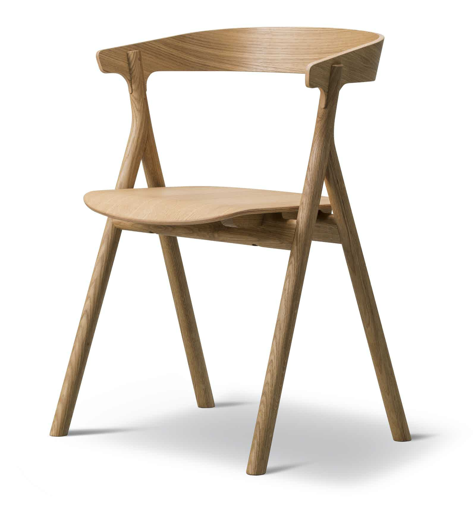 Fredericia Furniture Yksi Chair Angle Haute Living