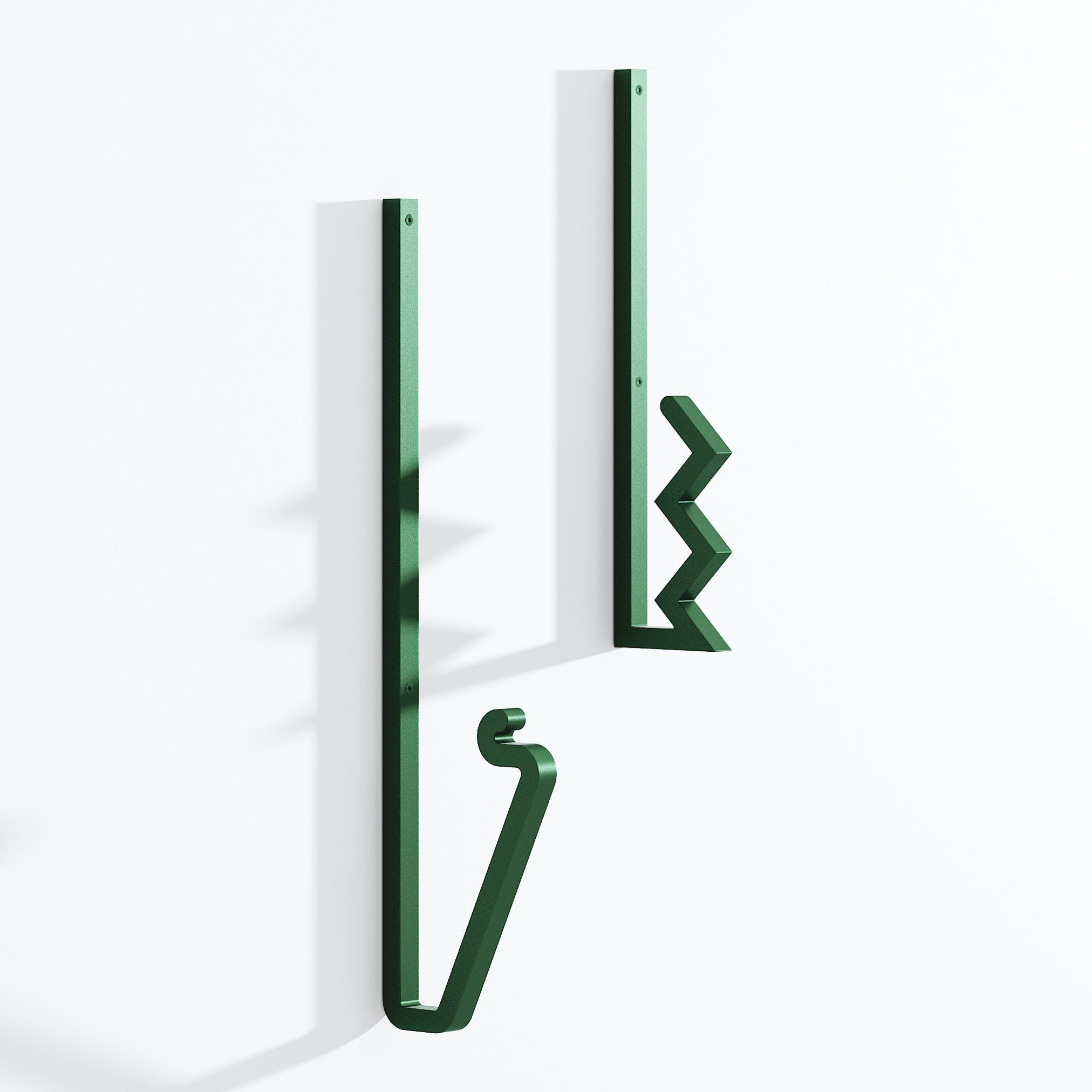 La-chance-furniture-zag-coat-hook-green-haute-living