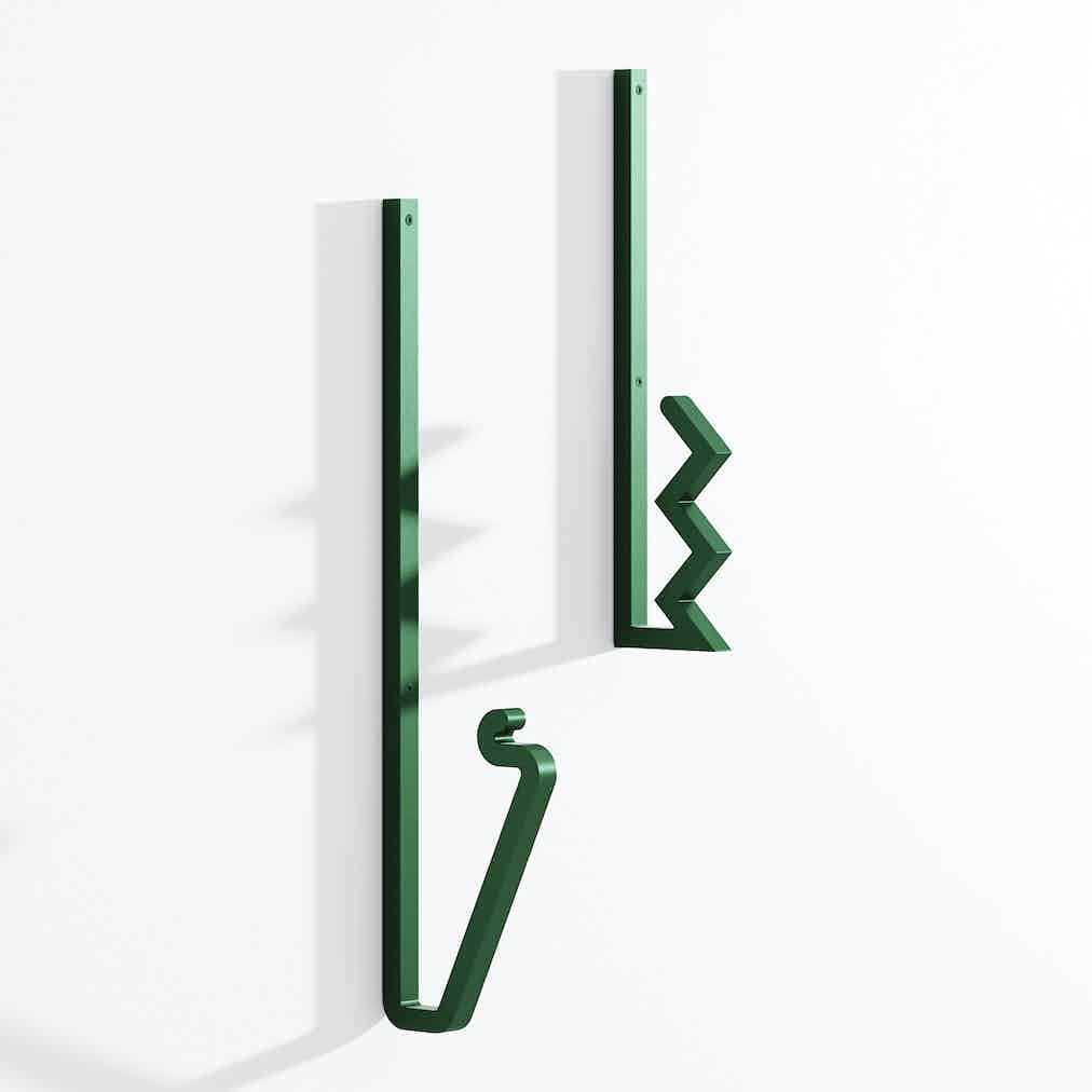 La-chance-furniture-zag-coat-hook-green-haute-living