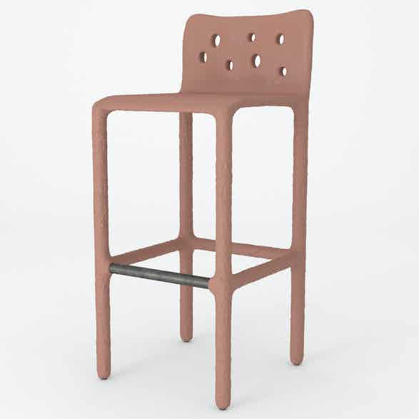 Ztista bar stool coral haute living
